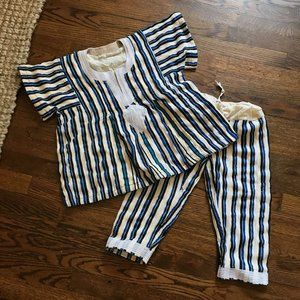 Kids vintage hand made outfit pants shirt 3T 4T